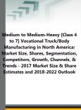 Medium to Medium-Heavy [Class 4 to 7] Vocational Truck/Body Manufacturing in North America: Market Size, Shares, Segmentation, Competitors, Growth, Channels, & Trends - 2017 Market Size & Share Estimates and 2018-2022 Outlook - Product Image